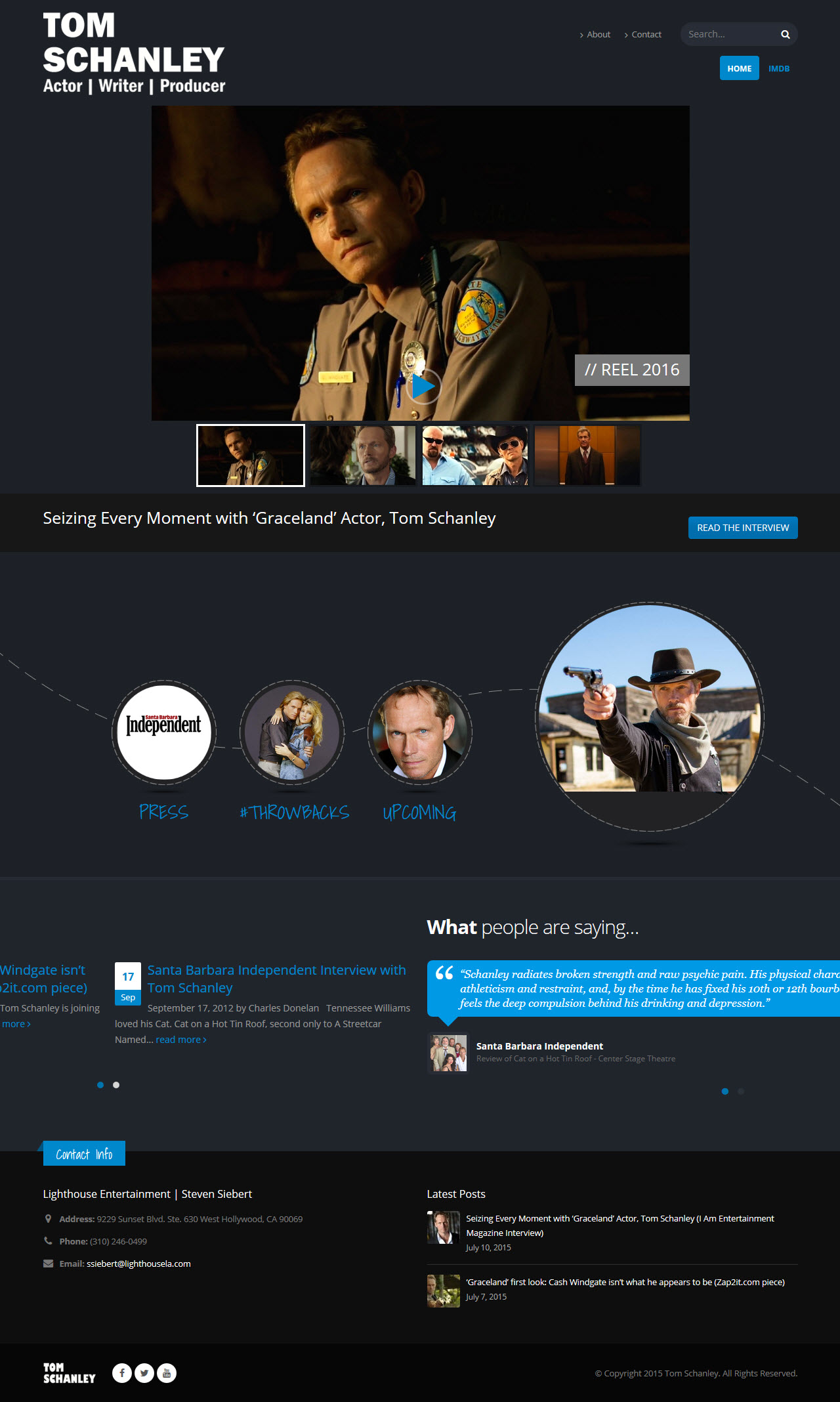 Tom Schanley actor website