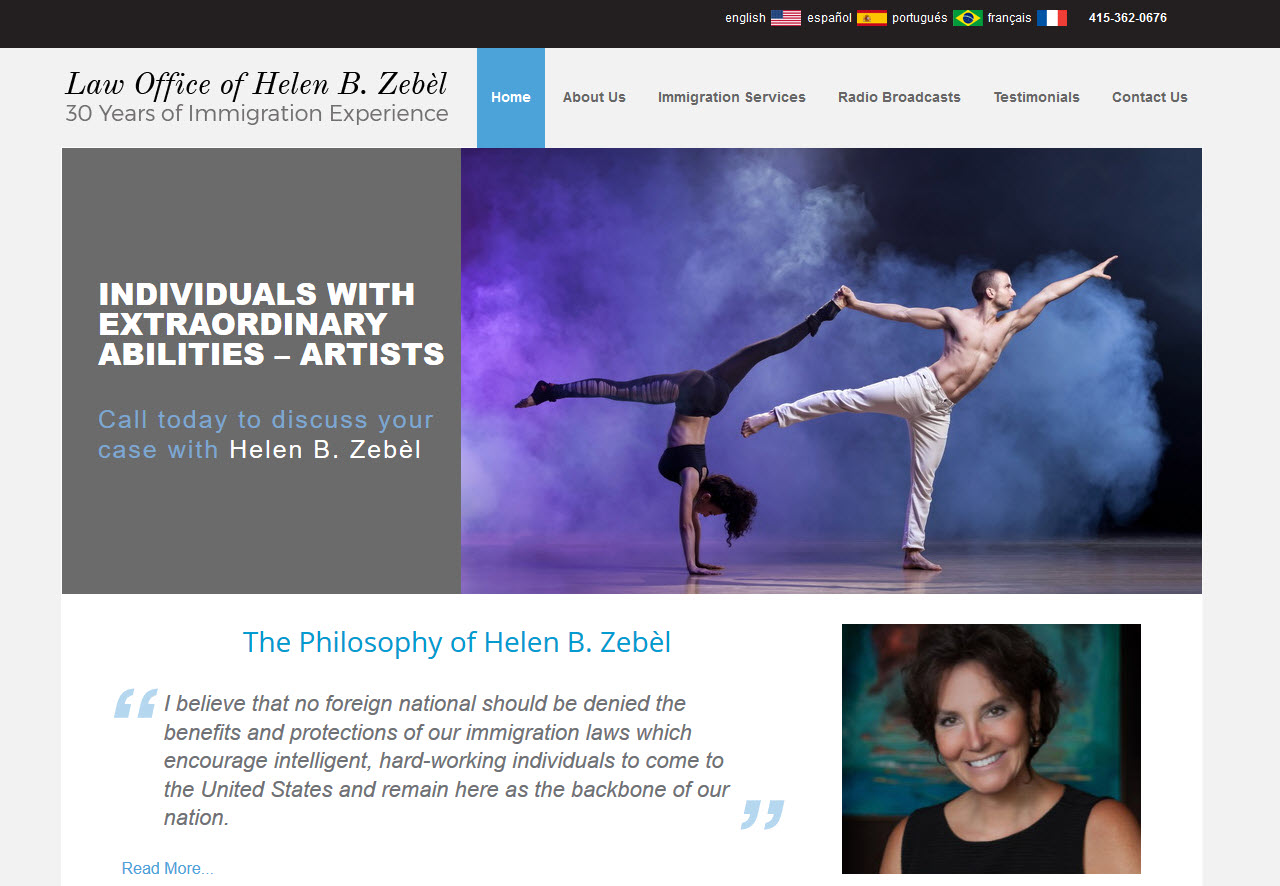 Zebel Law English home page